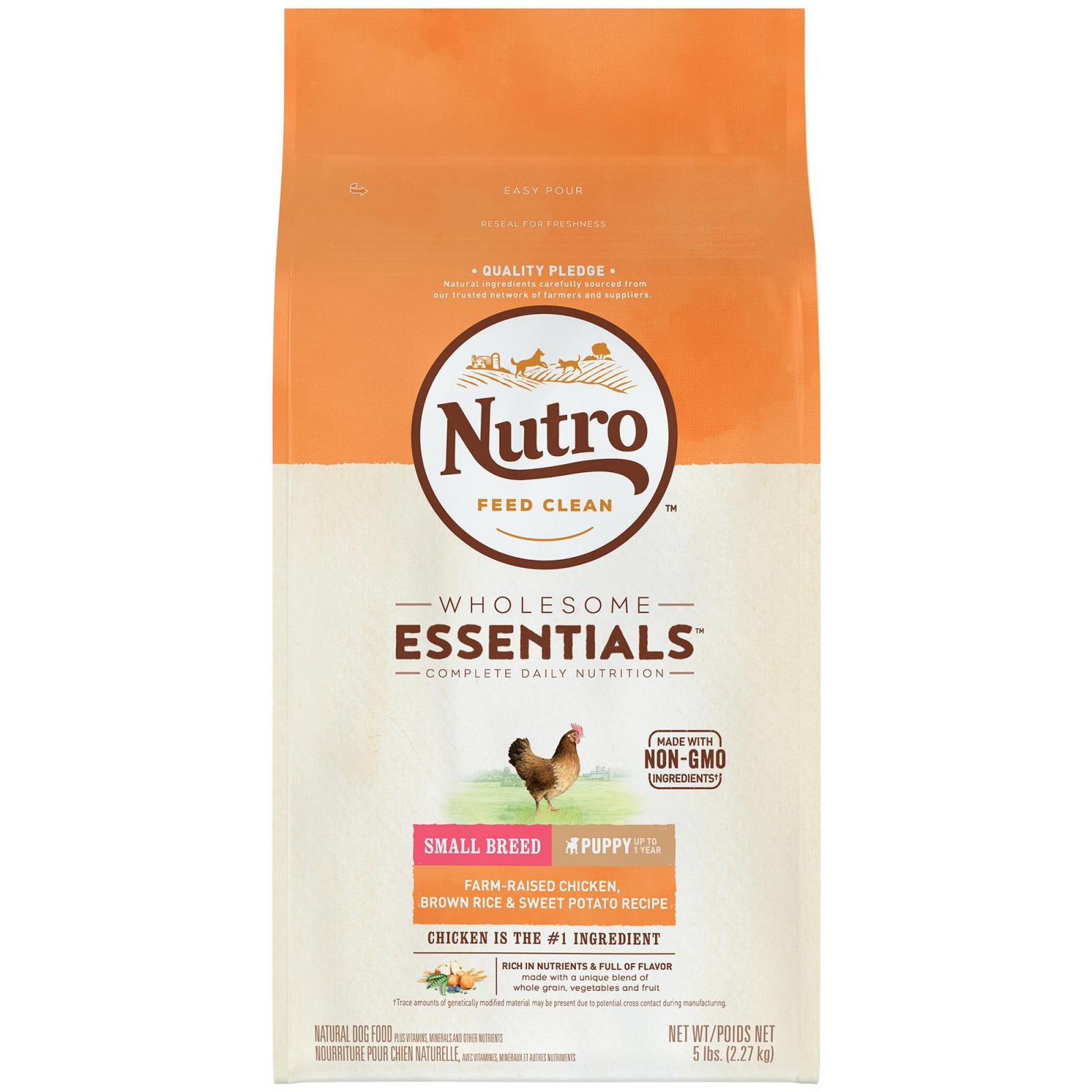 Nutro Nutro Wholesome Essentials Small Breed Chicken, Rice & Sweet Potato Dry Puppy Food 2.27kg