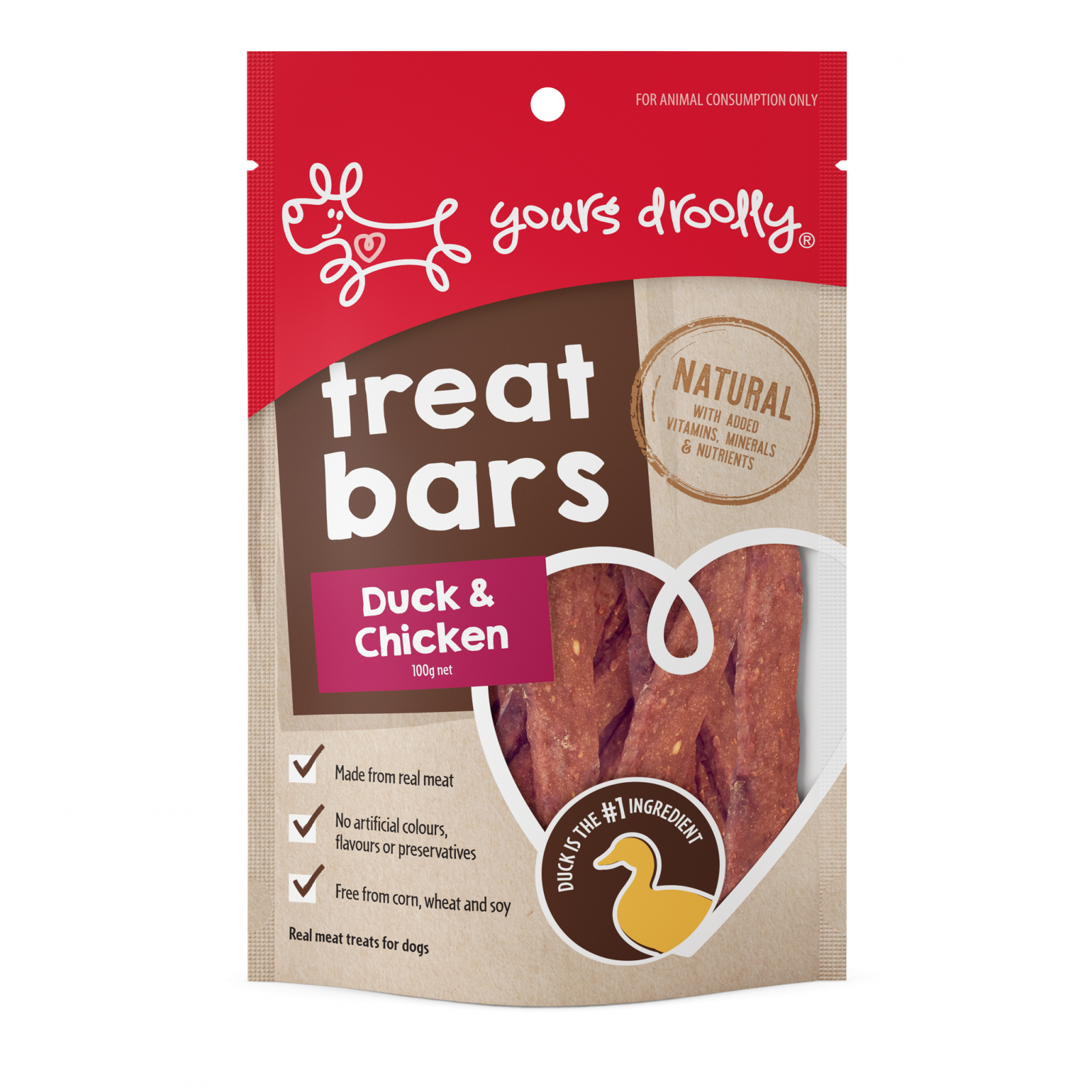 Yours Droolly Yours Droolly Treat Bars Duck & Chicken Dog Treats