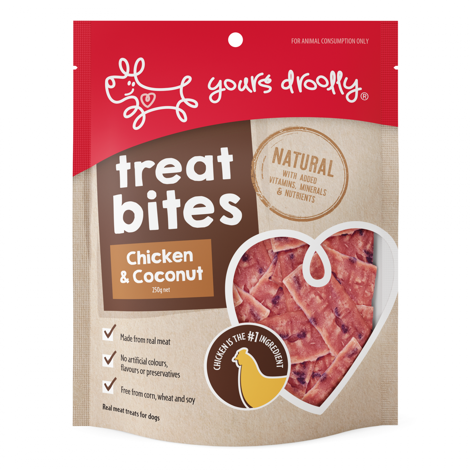 Yours Droolly Yours Droolly Treat Bites Chicken & Coconut Dog Treats