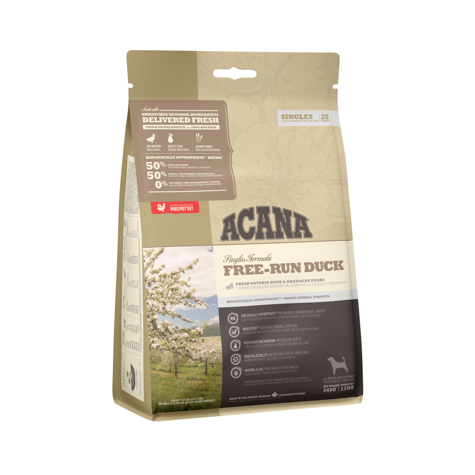 Acana Acana Singles Free-Run Duck Dry Dog Food