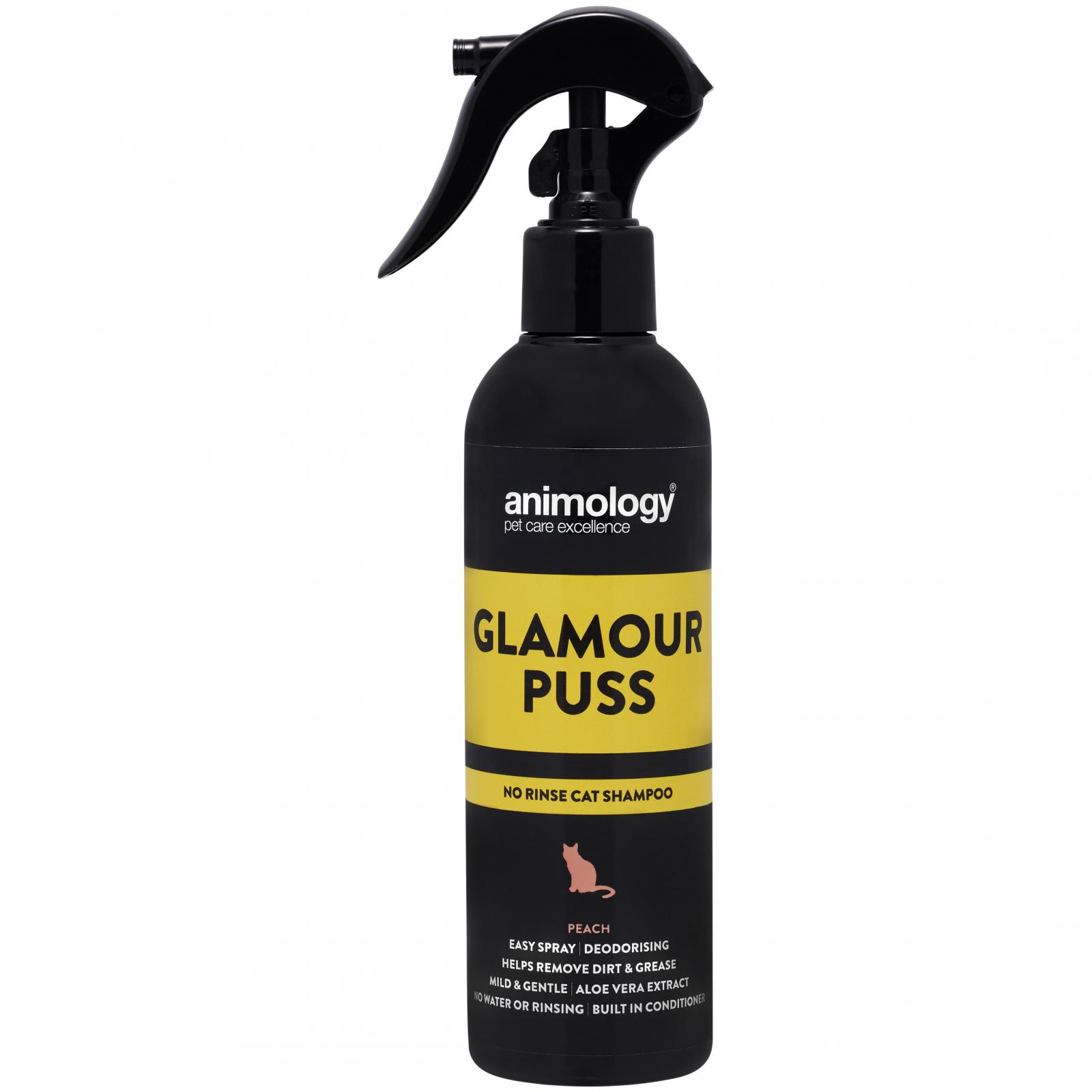 ANIMOLOGY Animology Glamour  Puss No Rinse Cat Shampoo Peach 250ml