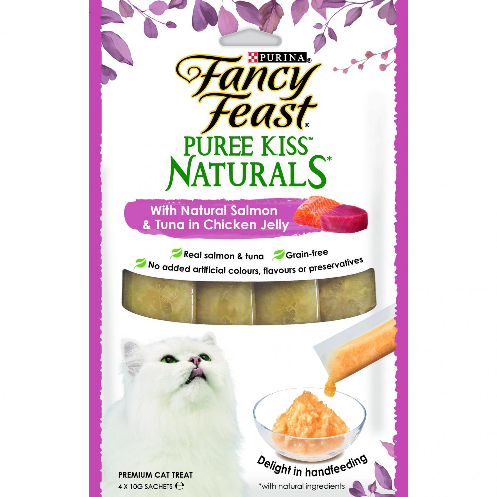 Fancy Feast Fancy Feast Puree Kiss Naturals Salmon and Tuna in Chicken Jelly 4x10g