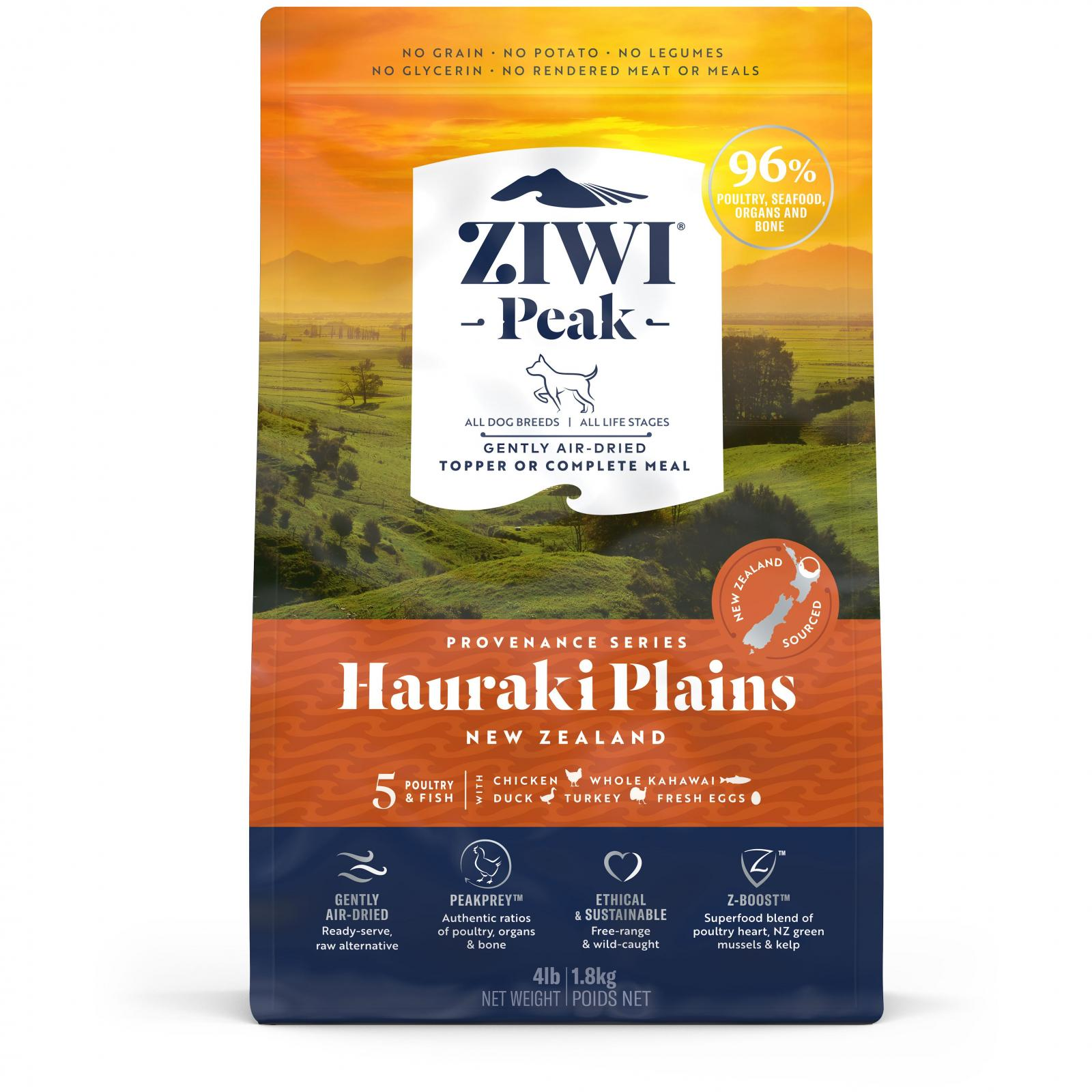 ZiwiPeak Ziwi Peak Provenance Air Dried Hauraki Plains Dog Food
