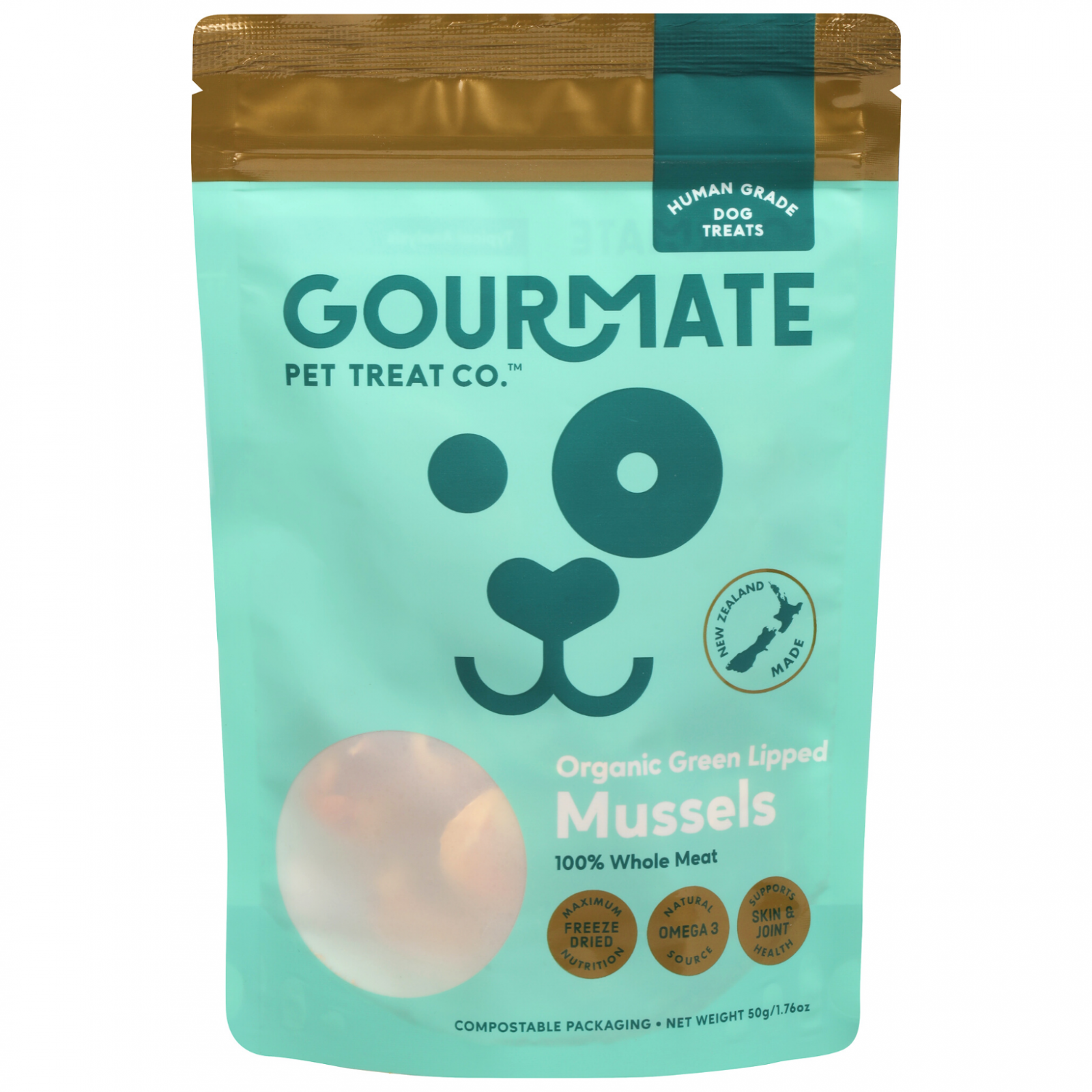 Gourmate Gourmate Pet Treat Co. Green Lipped Mussels Dog Treats